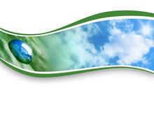 Kropla deszczu Nature Wave Background