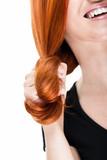 Rote Haarsträhne - 45950338