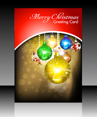 abstract christmas flayer card