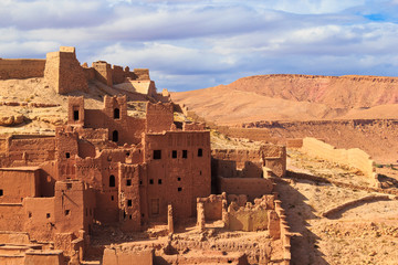 Beautiful view of kasbah Ait ben Haddou in Morocco