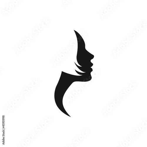 Woman Profile Logo Vector Profile of Woman Face
