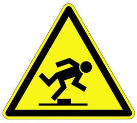 Warnzeichen - Stolpergefahr