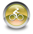 "Yellow Glossy Pictogram ""Bicycle Trail"""