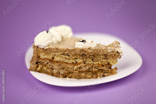 hazelnut cake and sour cream