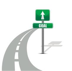 goal road illustration design