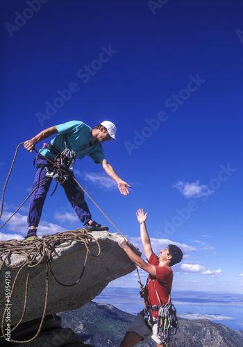 Team of climbers.