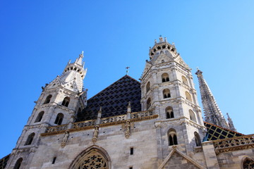 Dome in Vienna with blue sky