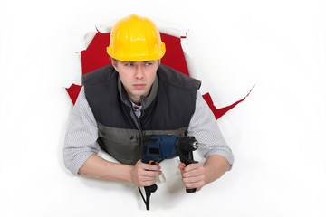Builder holding drill