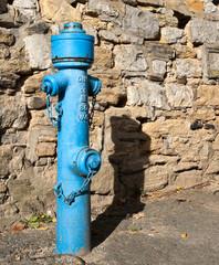 Schöner alter blauer Hydrant