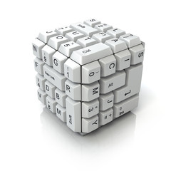 Keyboard cube