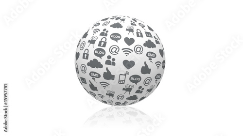 Rotating Social Media Sphere