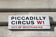 London Street Sign - Piccadilly