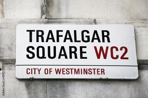 London Street Sign - Trafalgar Square
