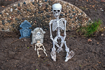 skeletons in dirt