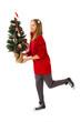 Last minute ... Kind mit Weihnachtsbaum