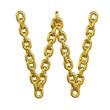 3d Gold Chain Alphabet Font - w