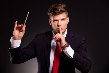 conductor who makes silence