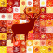 Greeting card with reindeer. EPS 8