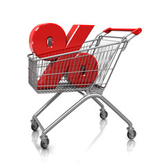 Symbol of percent in cart