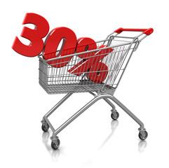 30 percent in cart
