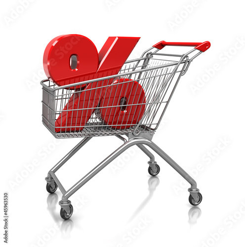 Symbol of percent in cart