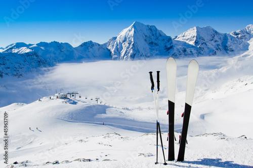 Fototapete Skilaufen - Schnee - Wintersport