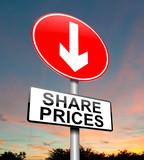 Share price decrease. poster