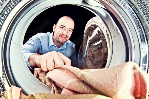 man load washing machine