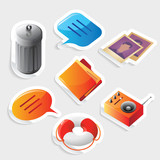 Sticker icon set for interface