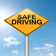 Safe driving concept.
