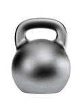Black shiny heavy kettlebell