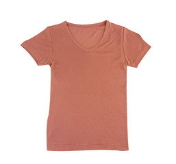 Nice blank brown T shirt just  putting your texts words or brand