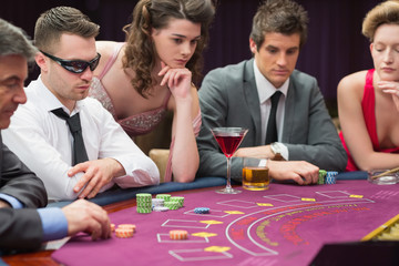 People around the poker table