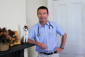 Standing white Doctor