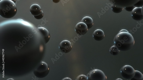 Energy ball explosion, abstract CG animation