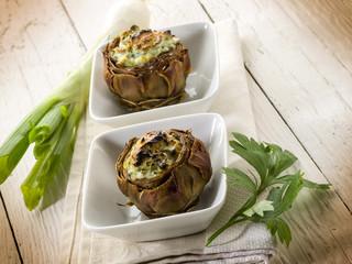 stuffed artichoke, vegetarian fod