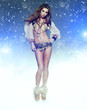 Dance Queen in snow party