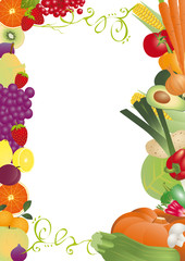 cadre légumes & fruits d'automne