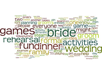 Wedding dinner games
