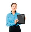 Geschäftsfrau mit Computer Tablet