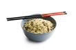 wild rice in ceramic bowl
