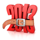 2013 year of recession - tighten belt on number 2013