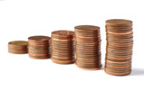 Five stacks of coins 2