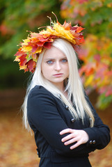 Business Woman in Autumn