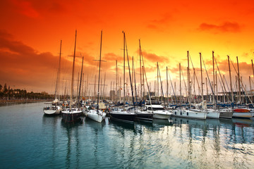 marina in Barcelona. Spain.
