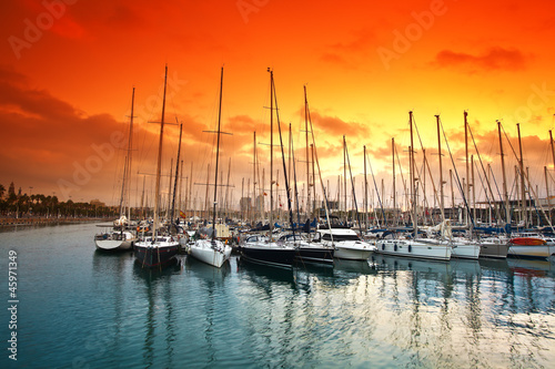 marina in Barcelona. Spain. - 45971349