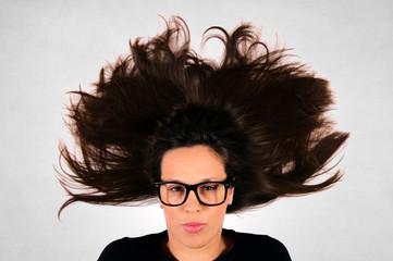 Splashed hair