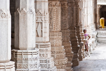 Carved Pillars of Ranakpur temple