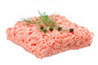 Minced meat isolated on white background