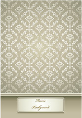 beauty silver colored vintage seamless pattern